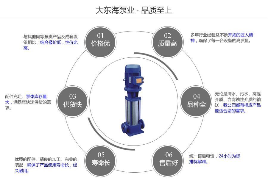 大东海泵业GDL型立式多级泵质量保证图